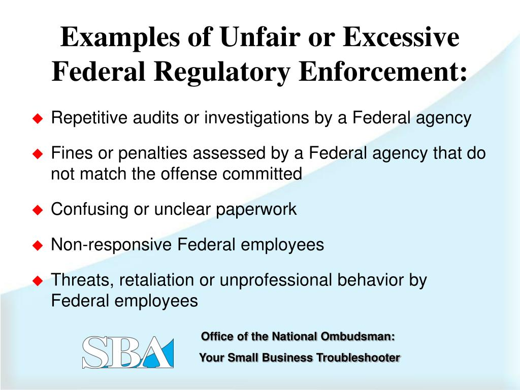 Repetitive audits or investigations by a Federal agency