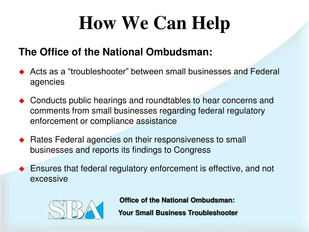 The Office of the National Ombudsman: