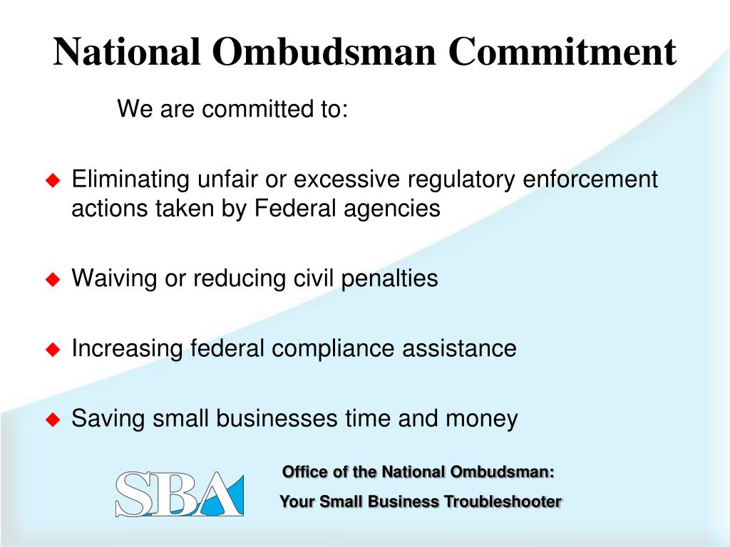 National Ombudsman Commitment