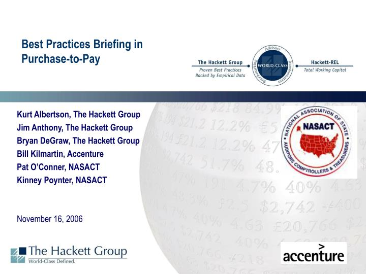 best practices briefing in purchase to pay n.