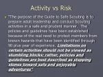 activity vs risk6