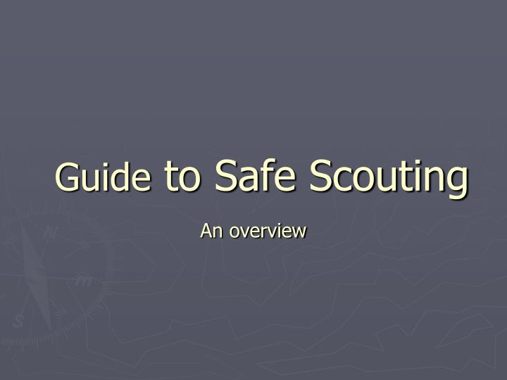 guide to safe scouting n.