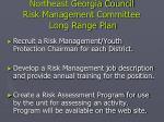 northeast georgia council risk management committee long range plan42