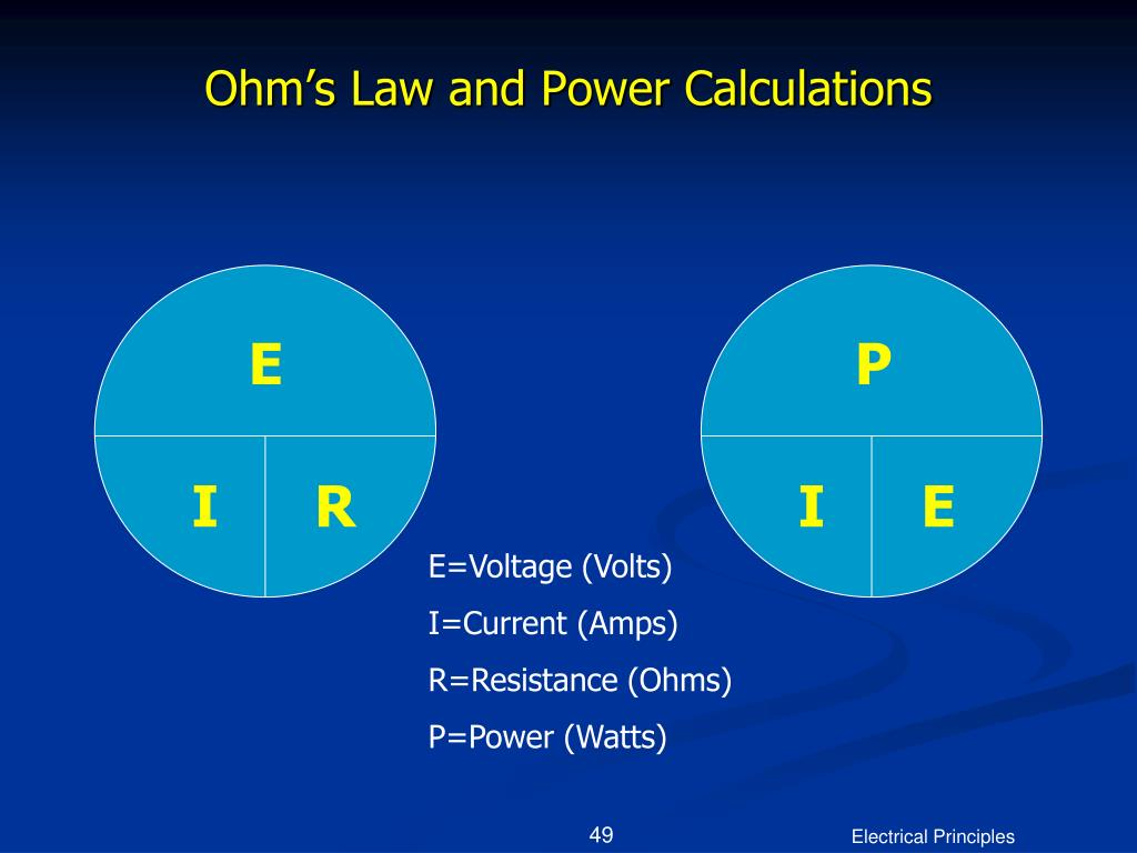 Ohm's Law and Power Calculations