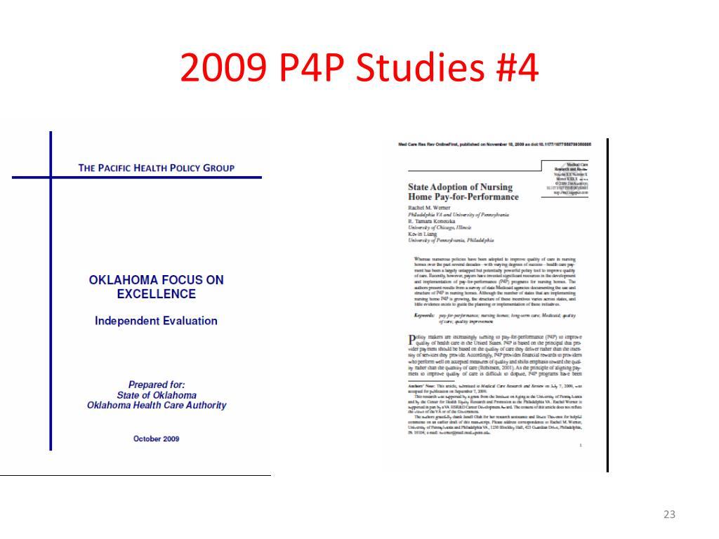 2009 P4P Studies #4