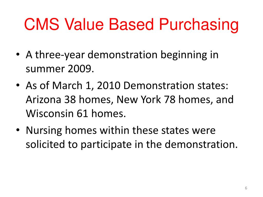CMS Value Based Purchasing