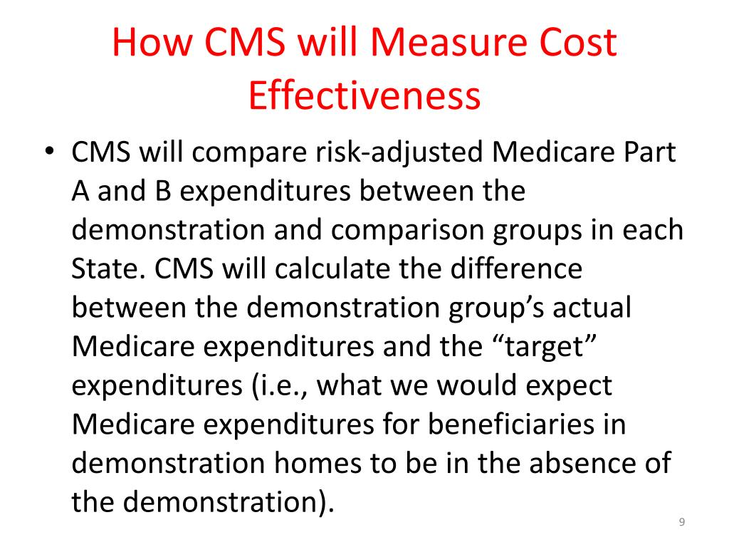 How CMS will Measure Cost Effectiveness