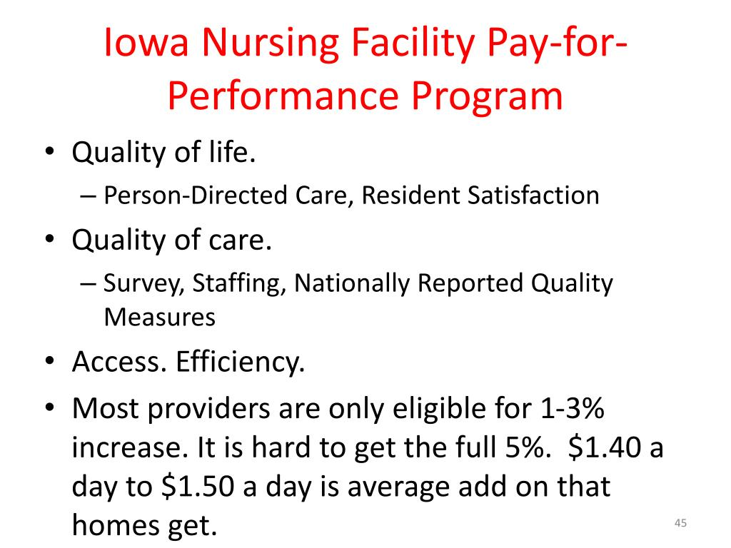 Iowa Nursing Facility Pay-for-Performance Program