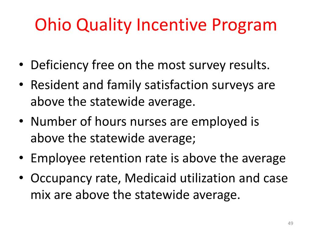 Ohio Quality Incentive Program