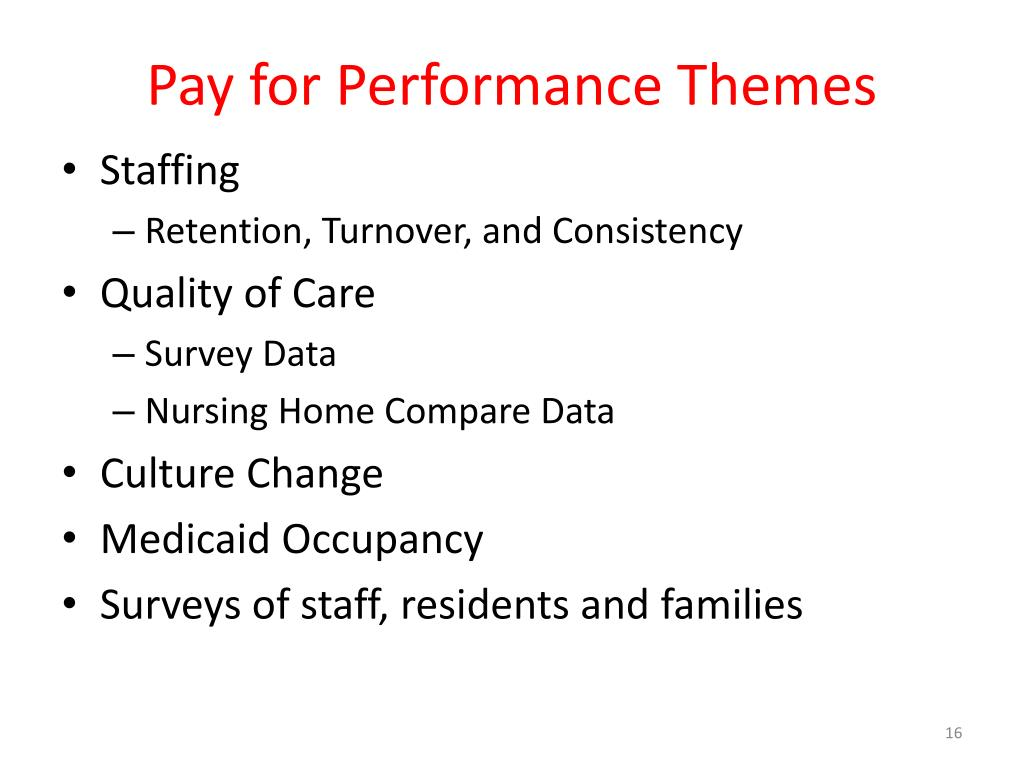 Pay for Performance Themes