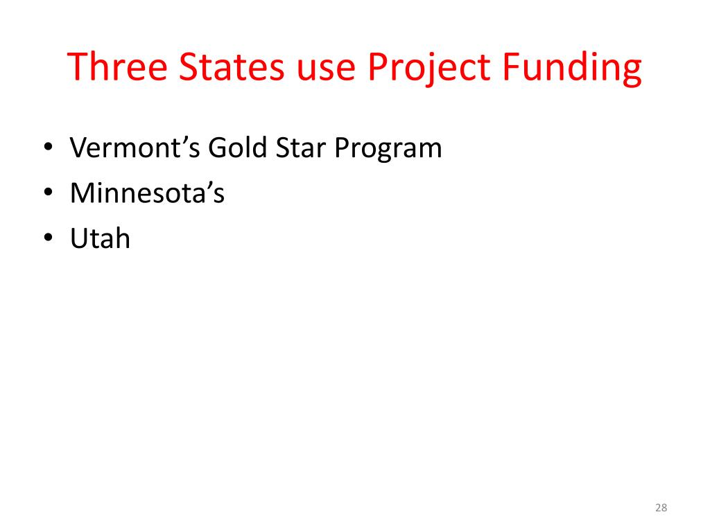 Three States use Project Funding