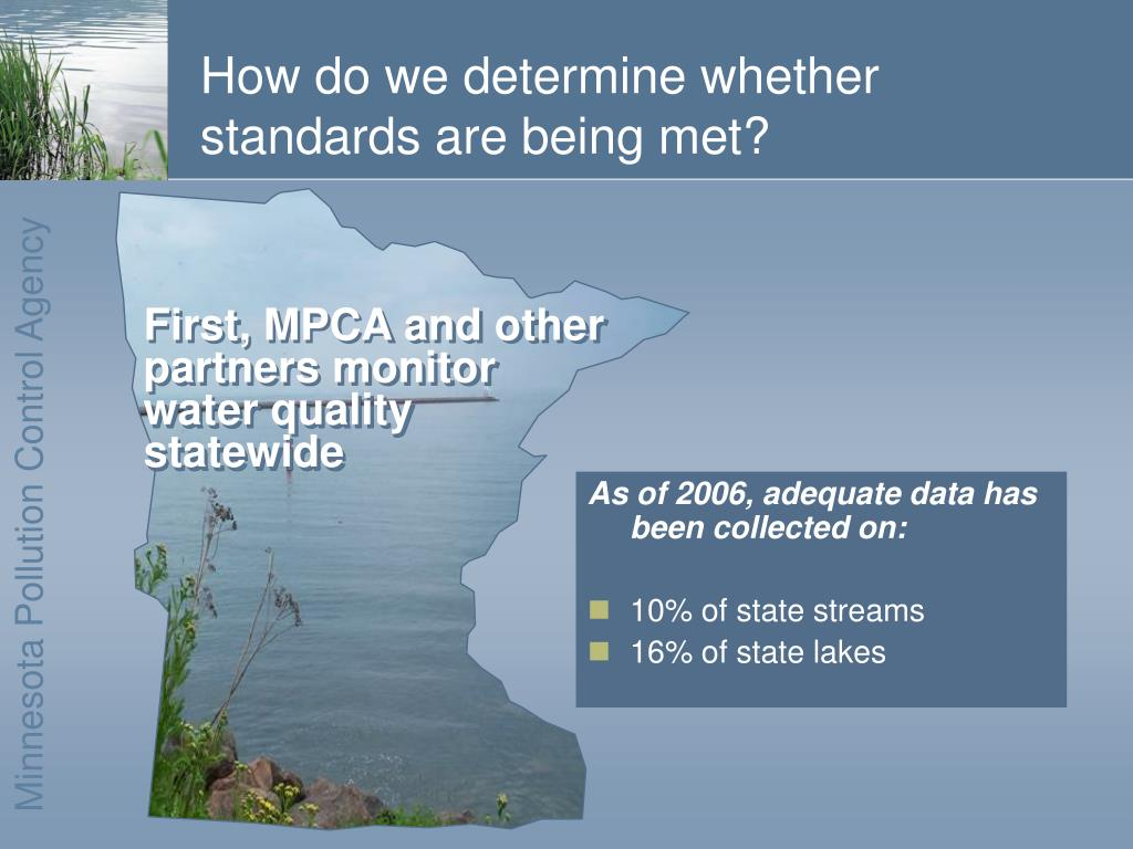 As of 2006, adequate data has been collected on: