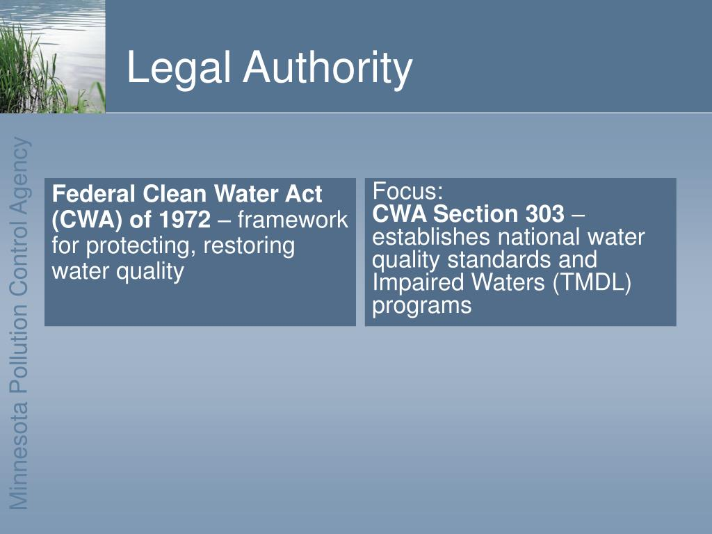 Federal Clean Water Act (CWA) of 1972