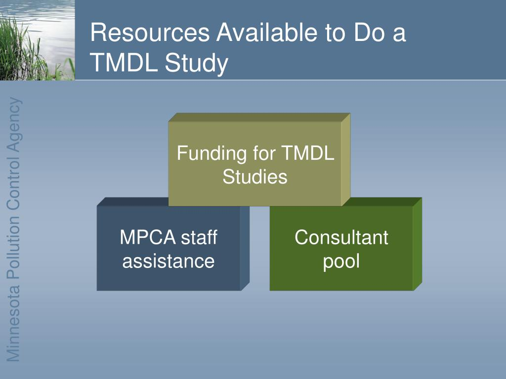 Resources Available to Do a TMDL Study