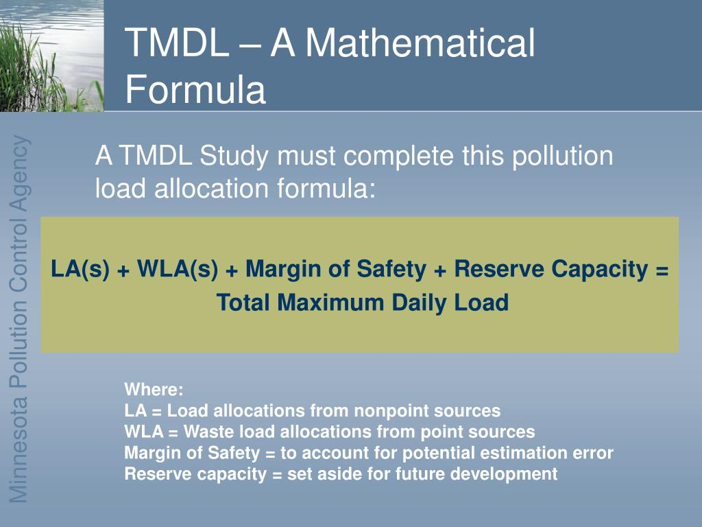 TMDL – A Mathematical Formula