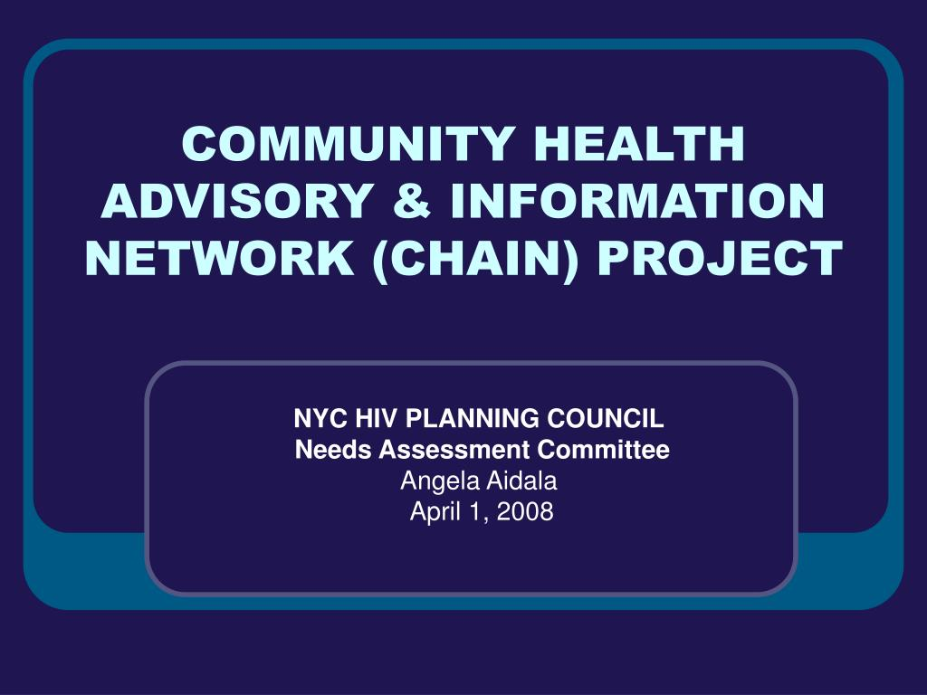 community health advisory information network chain project l.