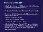 history of chain