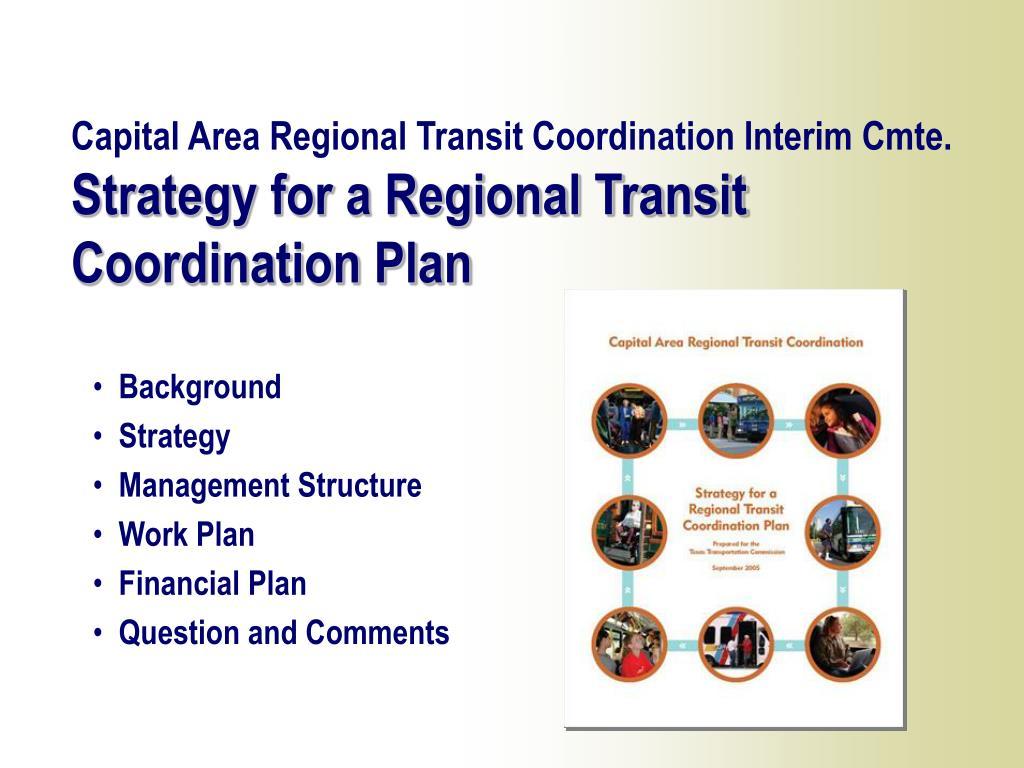 Capital Area Regional Transit Coordination Interim Cmte.