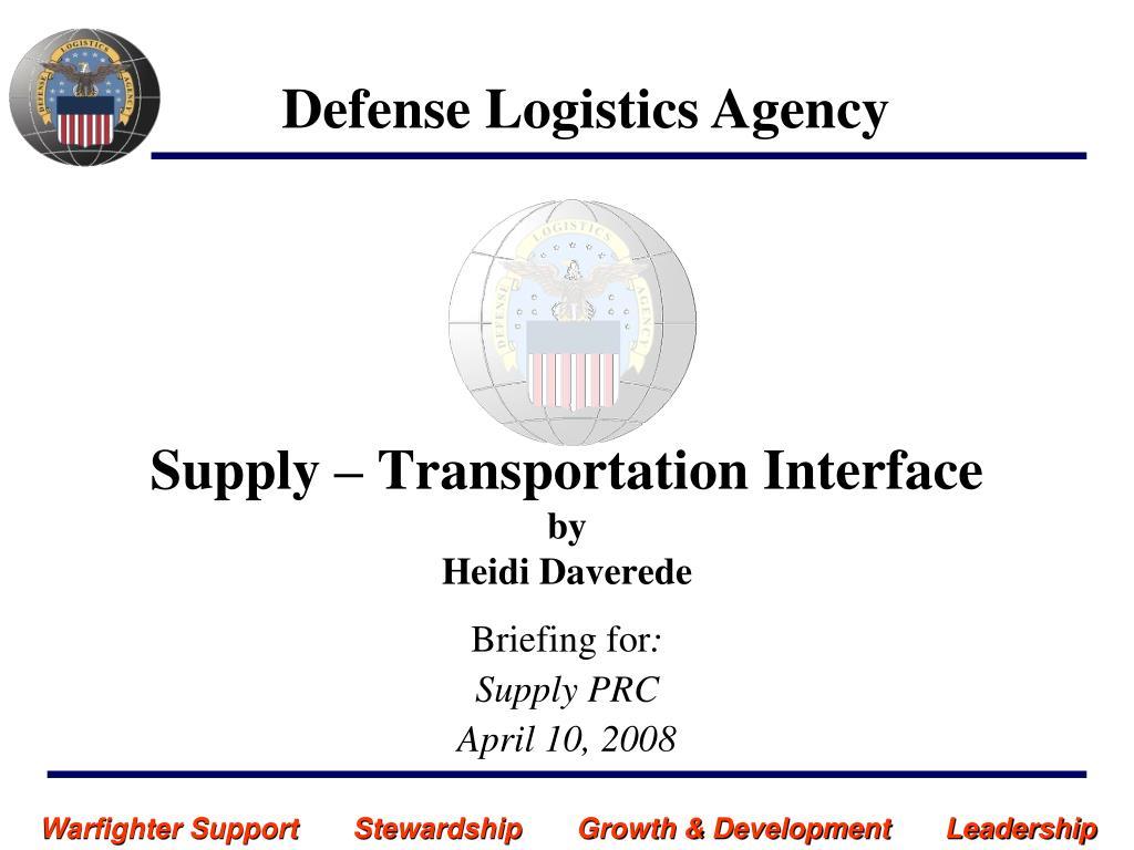 supply transportation interface by heidi daverede