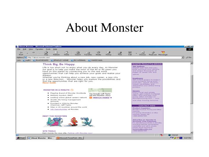 About Monster