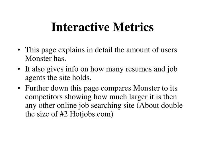 Interactive Metrics