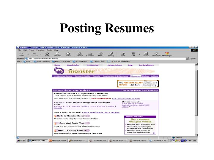 Posting Resumes