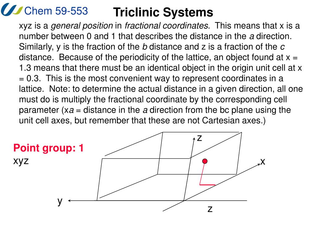 Triclinic Systems