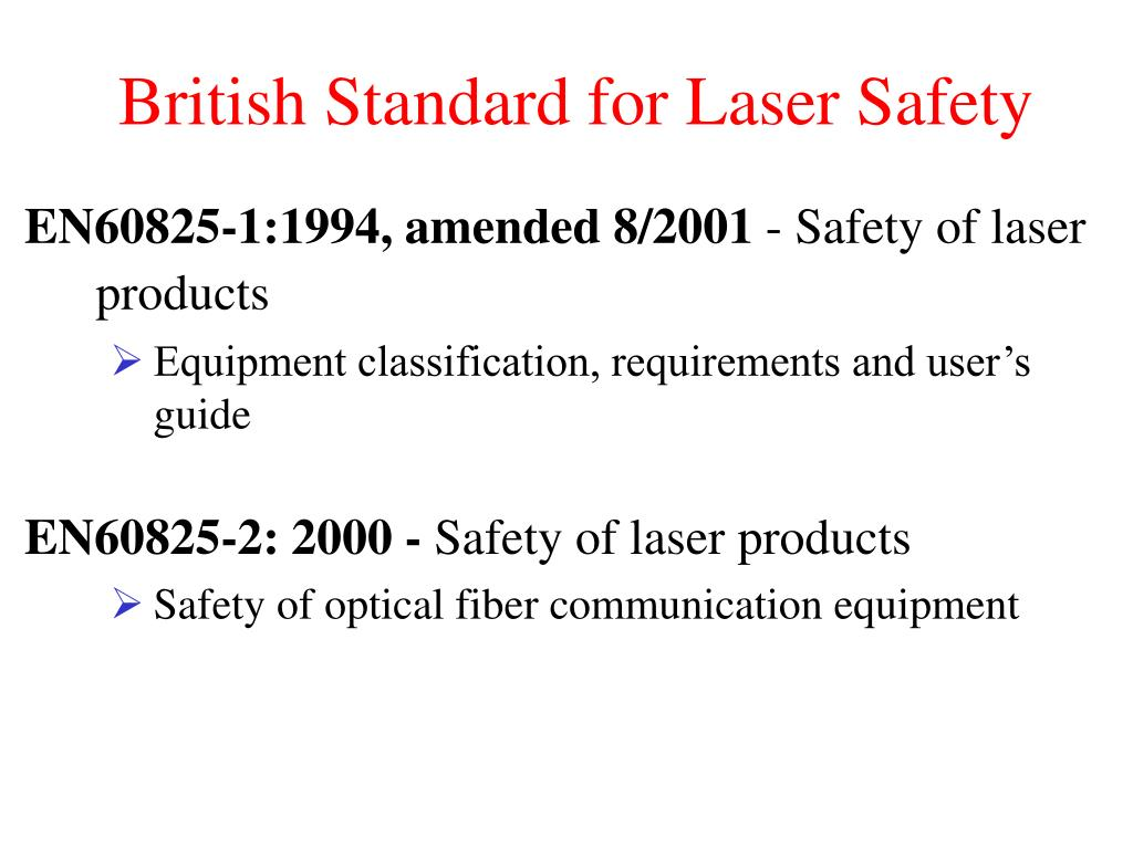 British Standard for Laser Safety