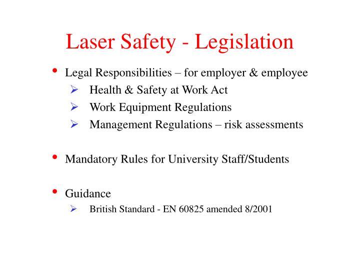 Laser safety legislation