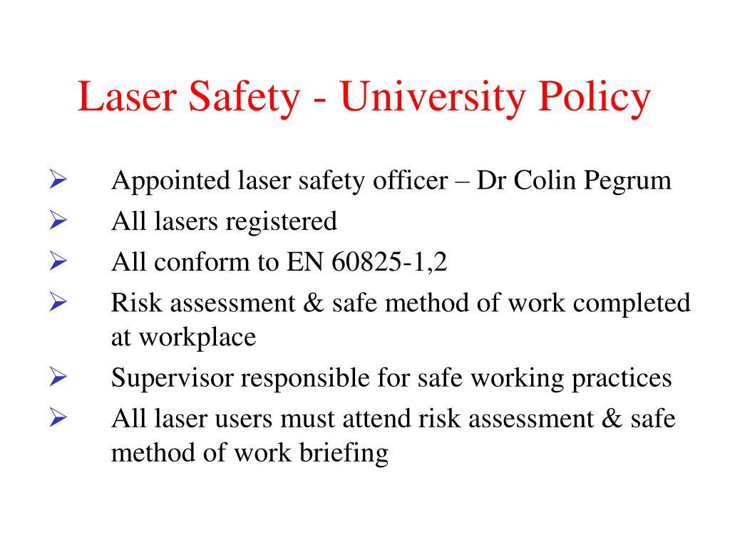 Laser Safety - University Policy