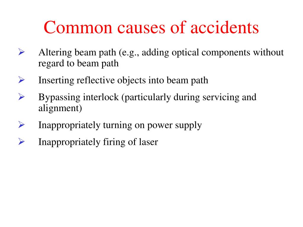 Common causes of accidents