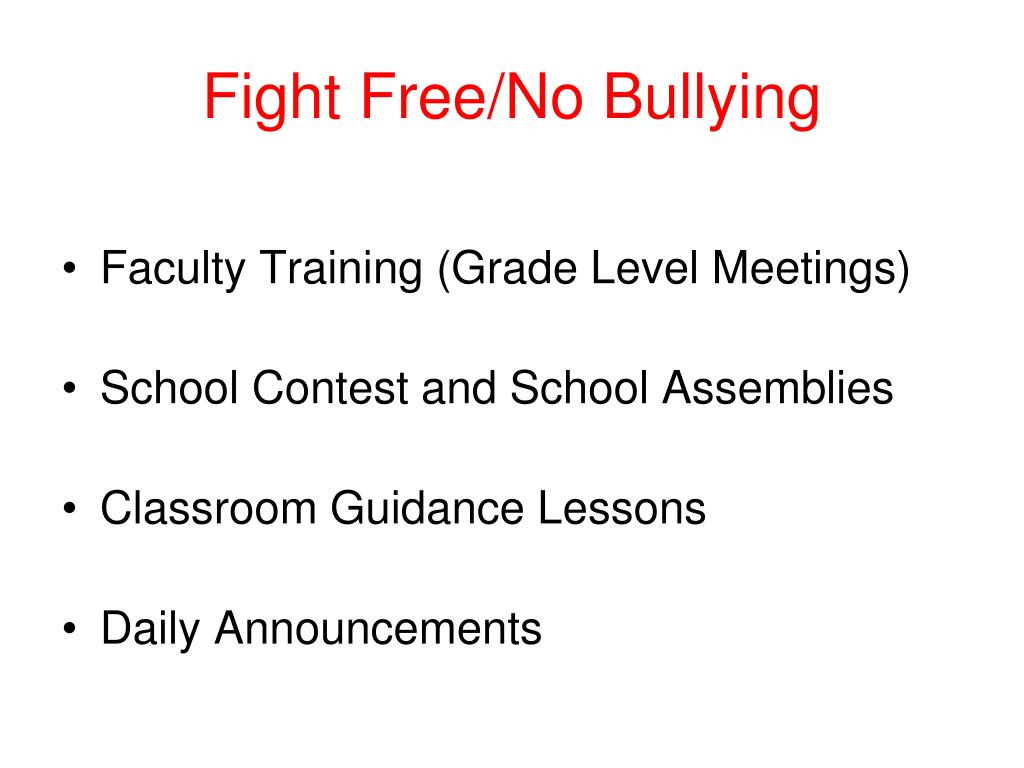 Fight Free/No Bullying