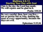 matthew 6 9 13 starting your day with god10