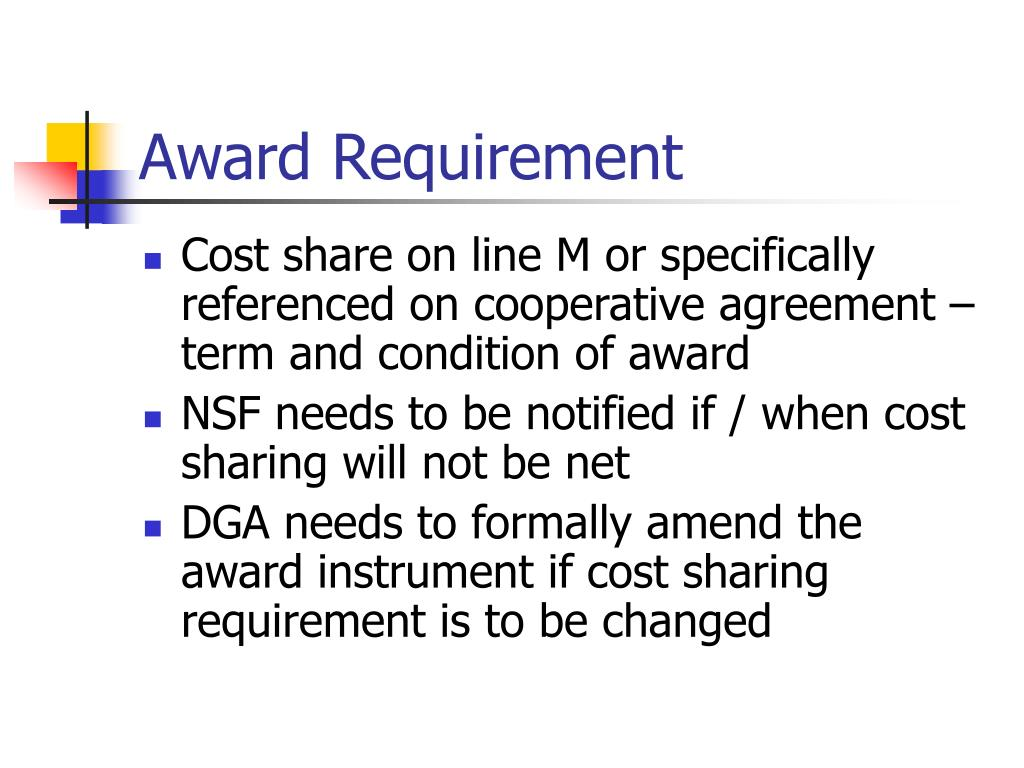 Award Requirement