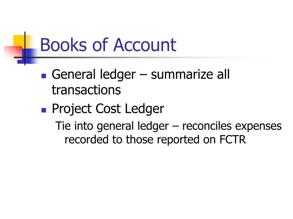 Books of Account
