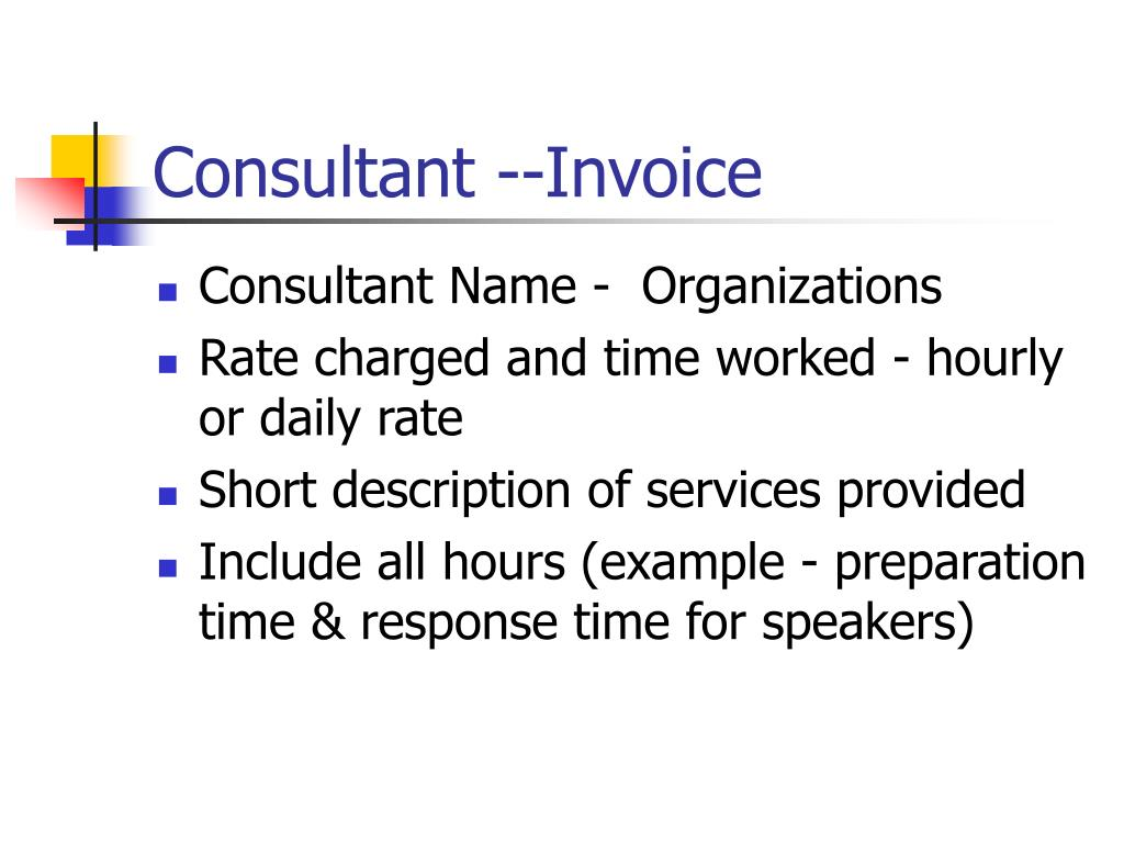 Consultant --Invoice