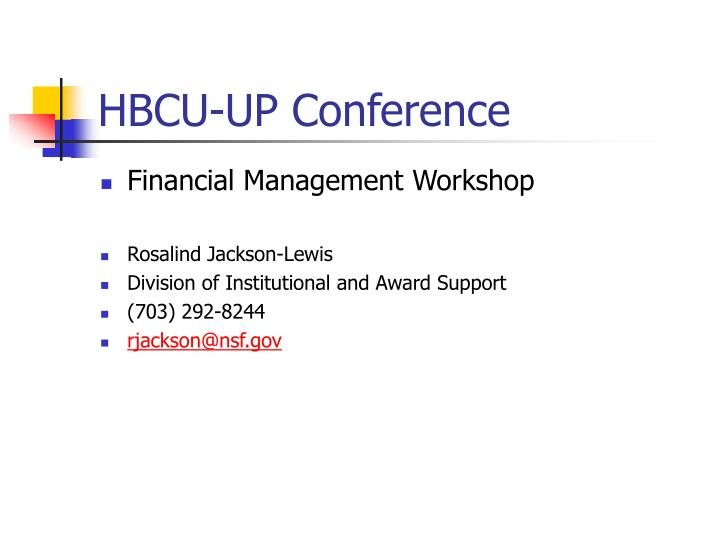 Hbcu up conference