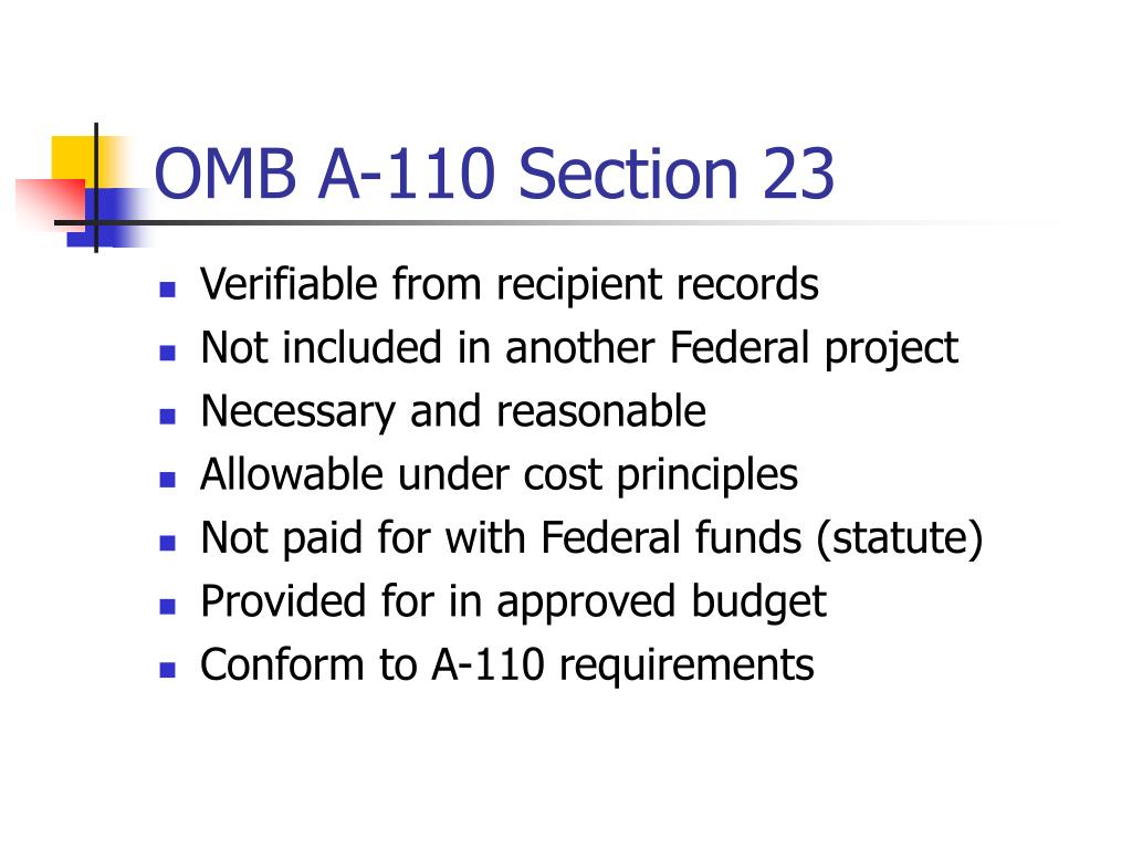 OMB A-110 Section 23