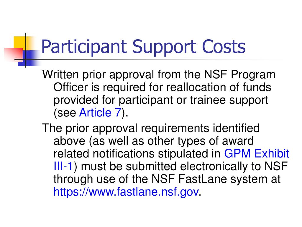 Participant Support Costs