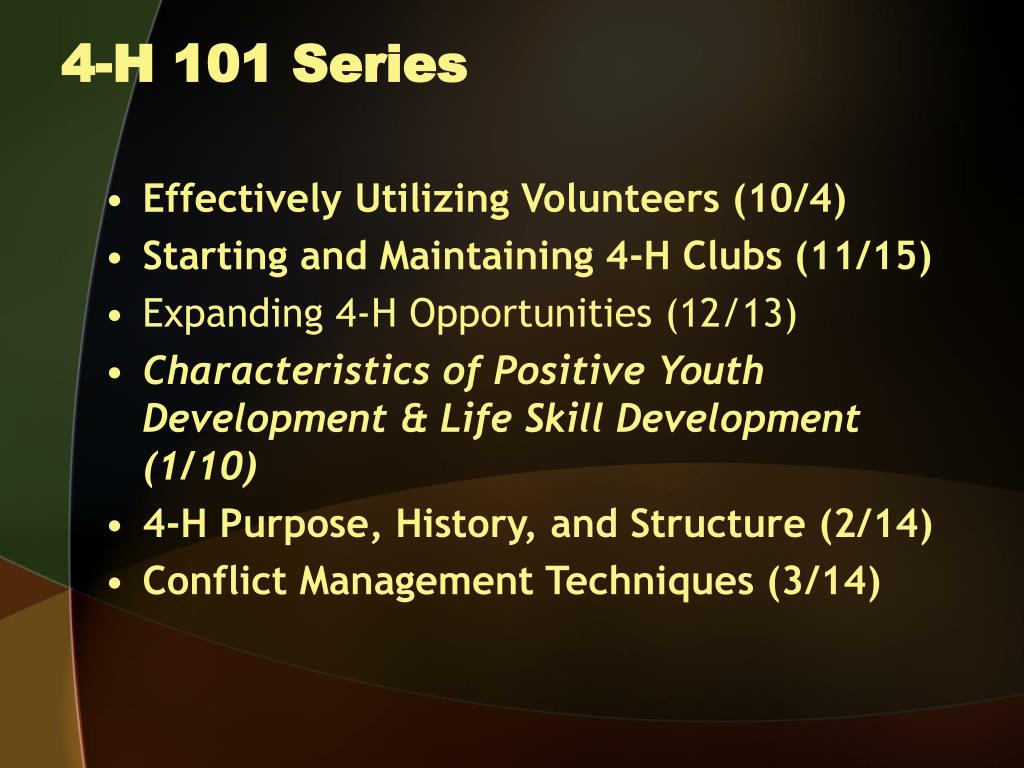 4-H 101 Series