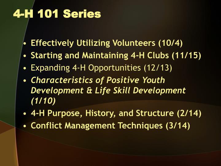 4 h 101 series