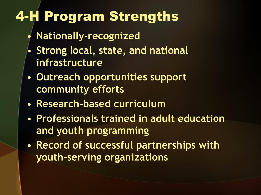 4-H Program Strengths
