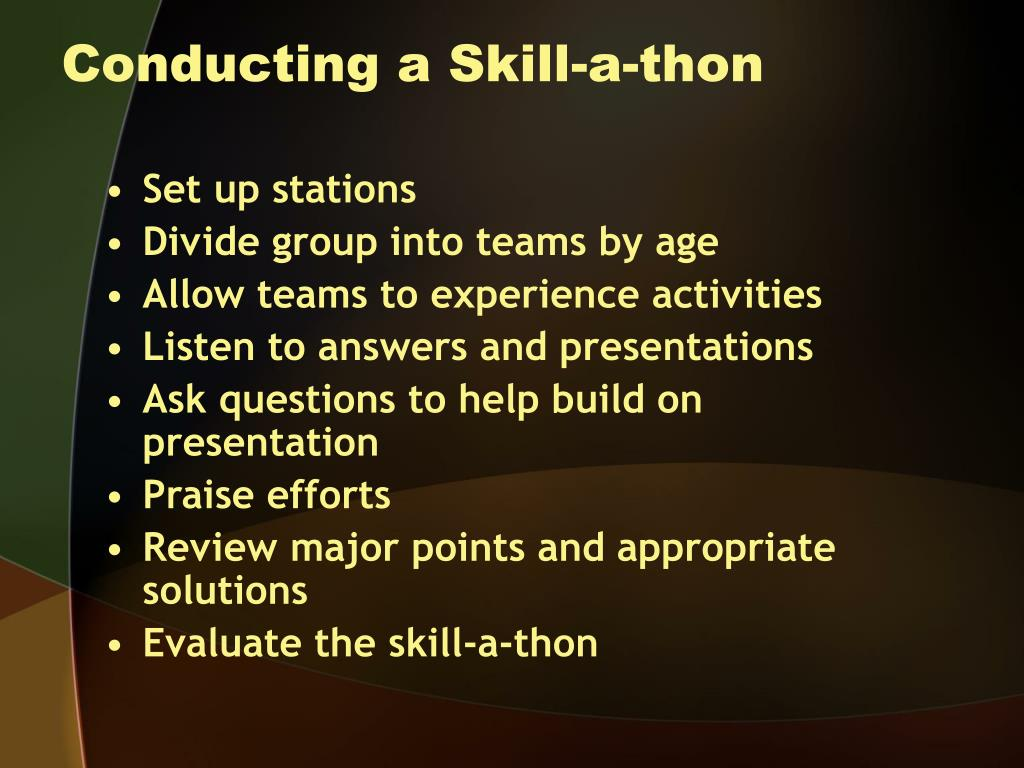 Conducting a Skill-a-thon