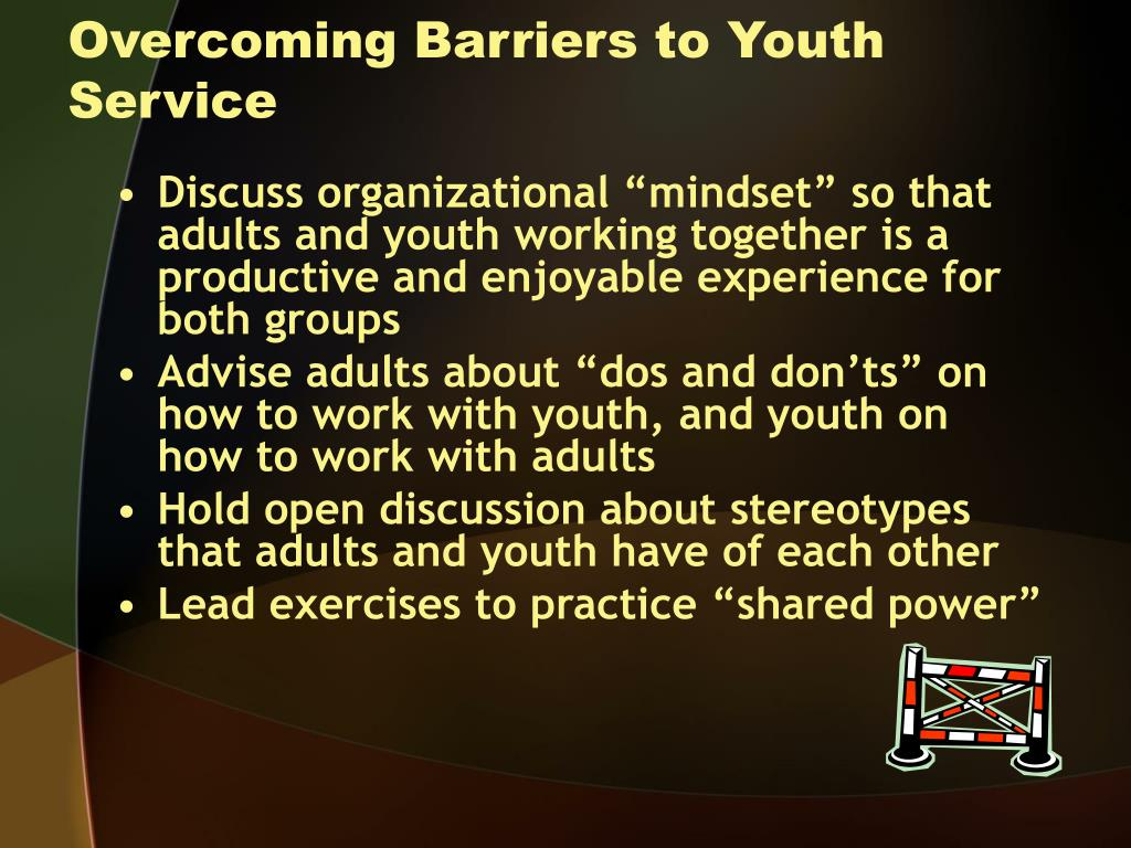 Overcoming Barriers to Youth Service