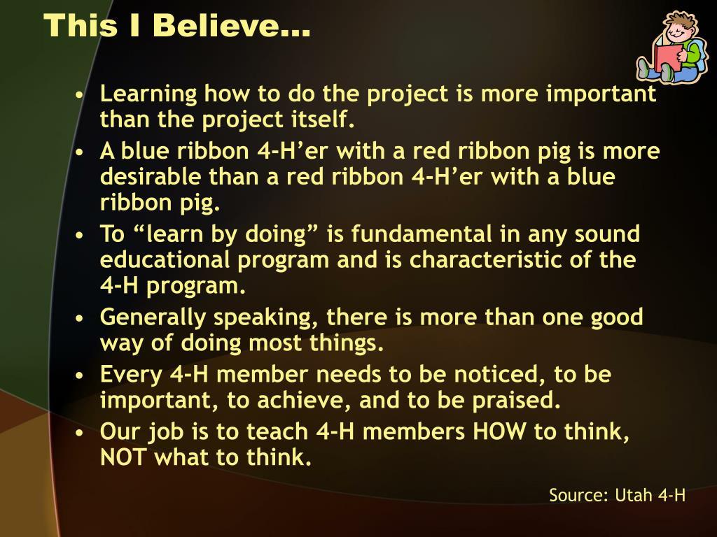 This I Believe…