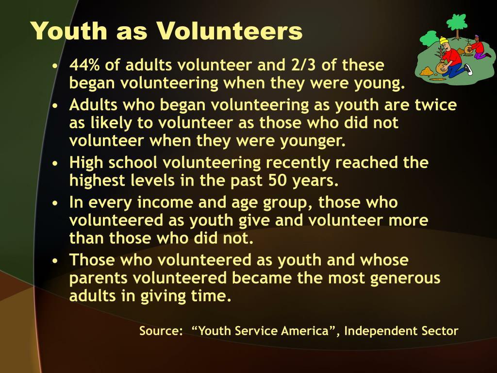 Youth as Volunteers