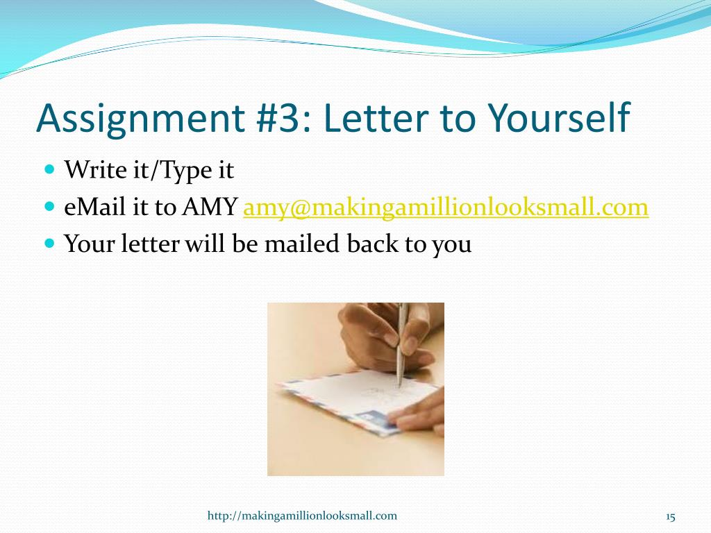 Assignment #3: Letter to Yourself