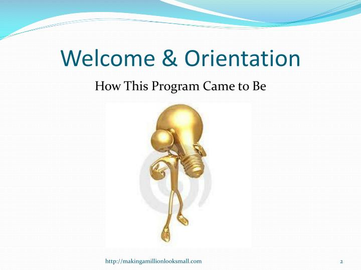 Welcome orientation