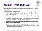 forum of firms and ifac