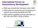 international forum on accountancy development